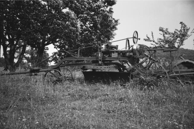 This road grader was state of the art road building equipment in the first quarter of the twentieth century.