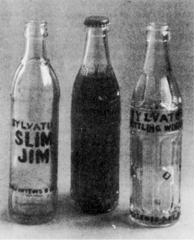 Soft drinks bottled in Sylvatus, Virginia.