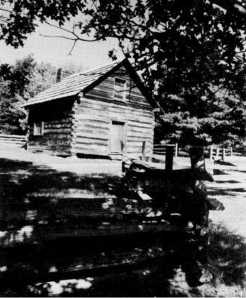 Puckett Cabin (Blue Ridge Parkway milepost 189.9) Home of midwife, Orleans Hawks Puckett, as seen through the lens of photographer Jim Waters.