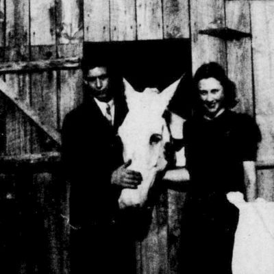 A 50 YEAR VALENTINE - James Matthews and Gladys Halbrook Matthews. This photo of James and Gladys Matthews was taken in the summer of 1937 on her parents farm in Stokesdale, North Carolina.
