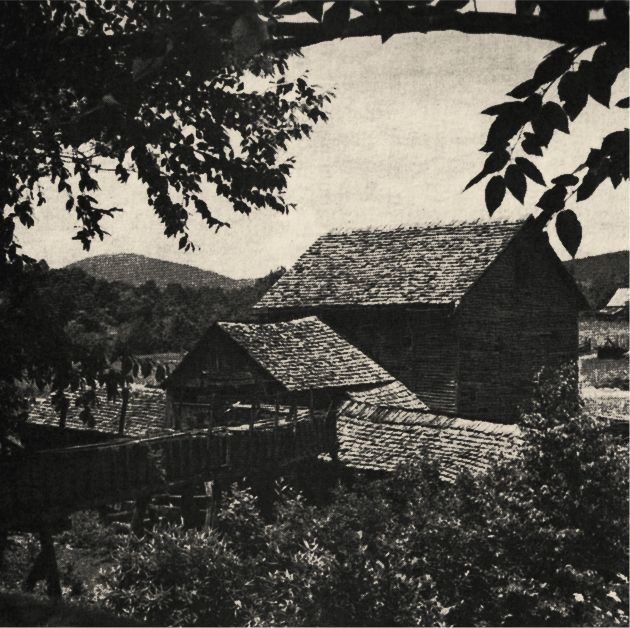 SPRINGTIME IN THE BLUE RIDGE - Mountain Grist Mill as seen through the lens of photographer Earl Palmer.