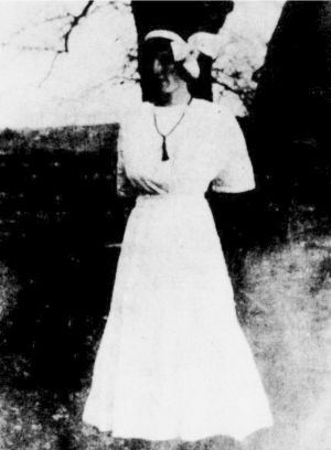 Icie Marie Roche, January 4, 1912, first day at Lewis Mountain School.