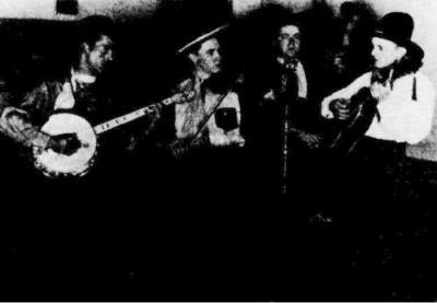 Texas Troubadours, circa 1939. Paul Byrd, tenor banjo; Ed Newman, fiddle; Glen Howell, bass; Lawrence Sink, guitar.
