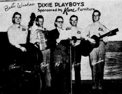 Dixie Playboys, circa 1948. Glen Howell, Roy Lemmon, Mel Linkous, Virgil Simmons, Gordon Reid.