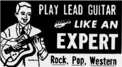 The above illustration was in an old music book from 1969. Ads such as these probably spurred young aspiring musicians to take mail order courses in playing the guitar.