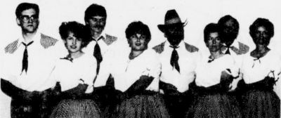 From left couples: Jamie Burnette & Toni Haynes, James & Cindy Riggins, Sammy and Peggy Burnette, John and Faye Warren the manager and instructor of Hugh Mountain Steppers.