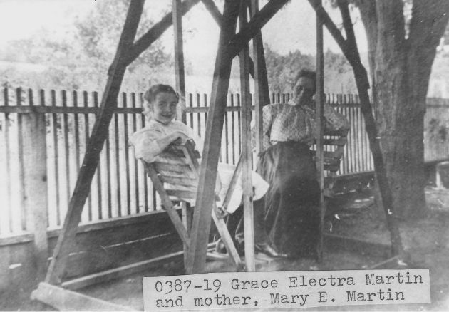 [0387-19] Grace Electra Martin and her mother, Mary E. Martin.