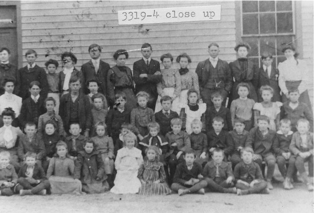 [3319-4] Close-up of Calloway School circa 1903-1904 photo.