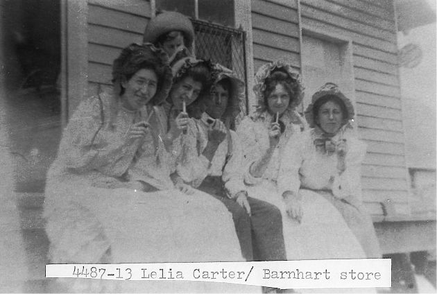 [4487-13] Barnhart's store. Lelia Carter on left and Ann Martin on right.