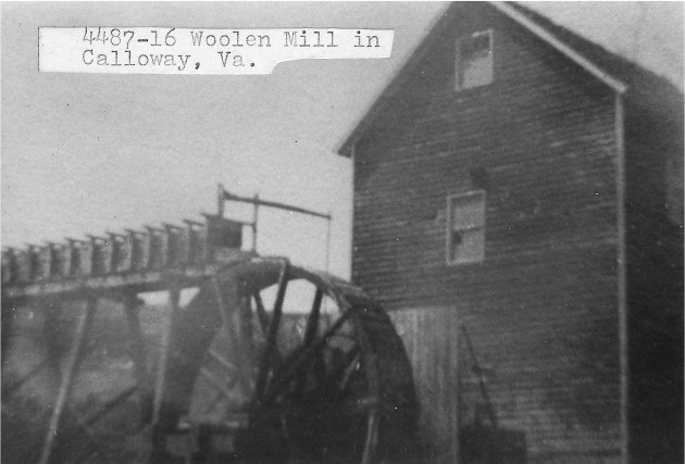 [4487-16] Woolen Mill in Calloway, Virginia