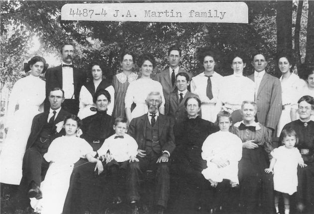 [4487-4] James A. Martin family at Calloway, Virginia