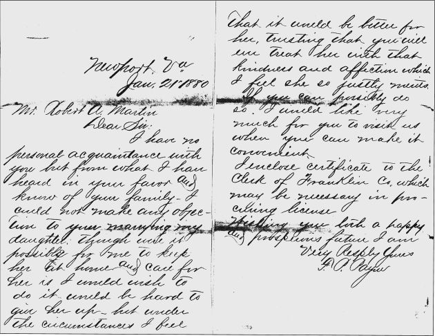 Letter to Robert A. Martin